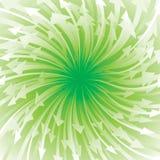 Fluxo verde da seta Fotos de Stock Royalty Free