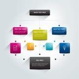 Fluxograma de Infographics Imagem de Stock Royalty Free