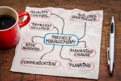 Fluxograma ou mindmap da gestão do projeto Imagens de Stock