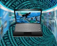 Fluxos de informação Fotos de Stock