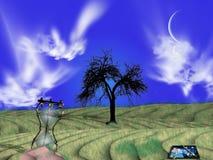 Fluxos do tempo como a areia ilustração royalty free