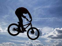 Fly [2]. Dirt jumping Royalty Free Stock Image
