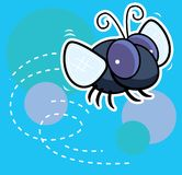 Fly. A house fly buzzing around Stock Photography
