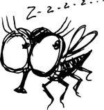 Fly. Vector drawing of an cartoon fly vector illustration