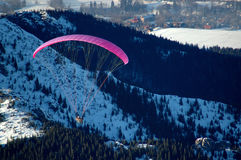 Fly. Hang-glider Royalty Free Stock Images