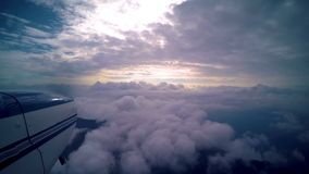 Fly above Clouds. Video footage of a flight high above ground over Venezuela stock video footage