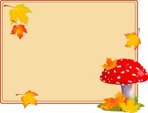 Fly agaric autumn background Royalty Free Stock Photography