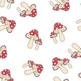 Fly-agaric pattern seamless stock illustration