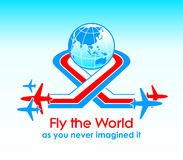 Fly around the world Stock Photography