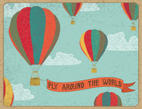 Fly arround the world Royalty Free Stock Photography