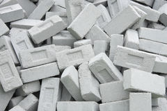 Fly ash eco friendly bricks controls pollution Royalty Free Stock Image