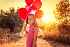 Fly away kid Royalty Free Stock Images
