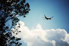 Fly away. Sky plane aeroplane holiday Stock Photos
