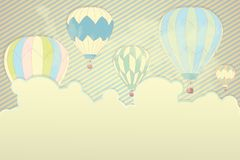 Fly ballons background Stock Images