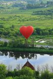Fly on the hot air balloon Royalty Free Stock Photos