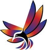 Fly bird logo Royalty Free Stock Image