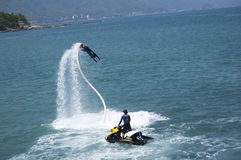 Fly Board Dive Royalty Free Stock Photo
