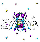 Fly bright cartoon Stock Photo