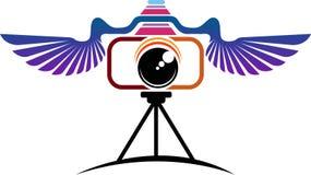 Fly camera logo Stock Photo