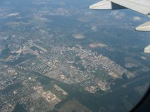 Fly From Chelyabinsk to Moscow stock photography