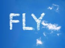 Fly a cloud massage. On sky Stock Photo