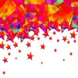 Fly colorful stars on the white background Royalty Free Stock Photos