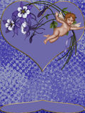 Fly Cupid. Cupids fly, turn around your heart, your feelings, a new love come to you Royalty Free Stock Photo