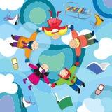 Fly_d de Childen del invierno Imagen de archivo libre de regalías