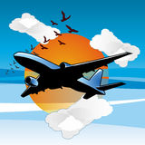 Fly in da sky 002 Royalty Free Stock Photo