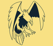 Fly Eagle Line Art Stock Images
