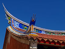 The fly-eaves of Tainan Official Mazu Temp Stock Photo