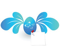 Fly Egg. And note Vector EPS Stock Photography
