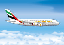 Fly Emirates airline passenger line Royalty Free Stock Images
