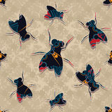 Fly family pattern Stock Photography