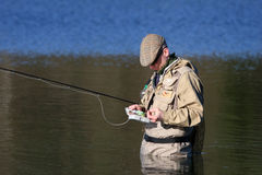 Fly-fisher Stock Photography