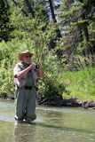 Fly Fisher Royalty Free Stock Images