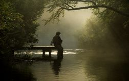 Fly Fisherman Royalty Free Stock Photography