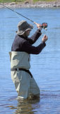 Fly fisherman Stock Photography