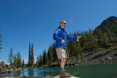 Fly Fisherman Stock Image