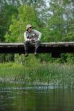 Fly-fishing foto de stock royalty free