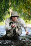 Fly-fishing fotografie stock libere da diritti