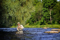 Fly-fishing Stock Images