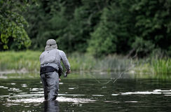 Fly-fishing foto de stock