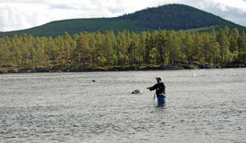 Fly-fishing Royalty Free Stock Photography