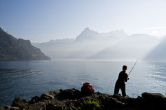 Fly-fishing Stock Image