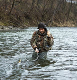 Fly fishing royalty free stock photos