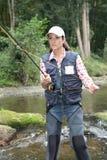 Fly fishing Royalty Free Stock Photo