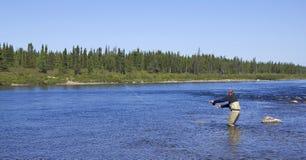 Fly fishing Royalty Free Stock Photos