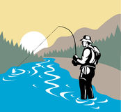 Fly fishing Royalty Free Stock Photo