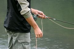 Fly fishing Stock Photo